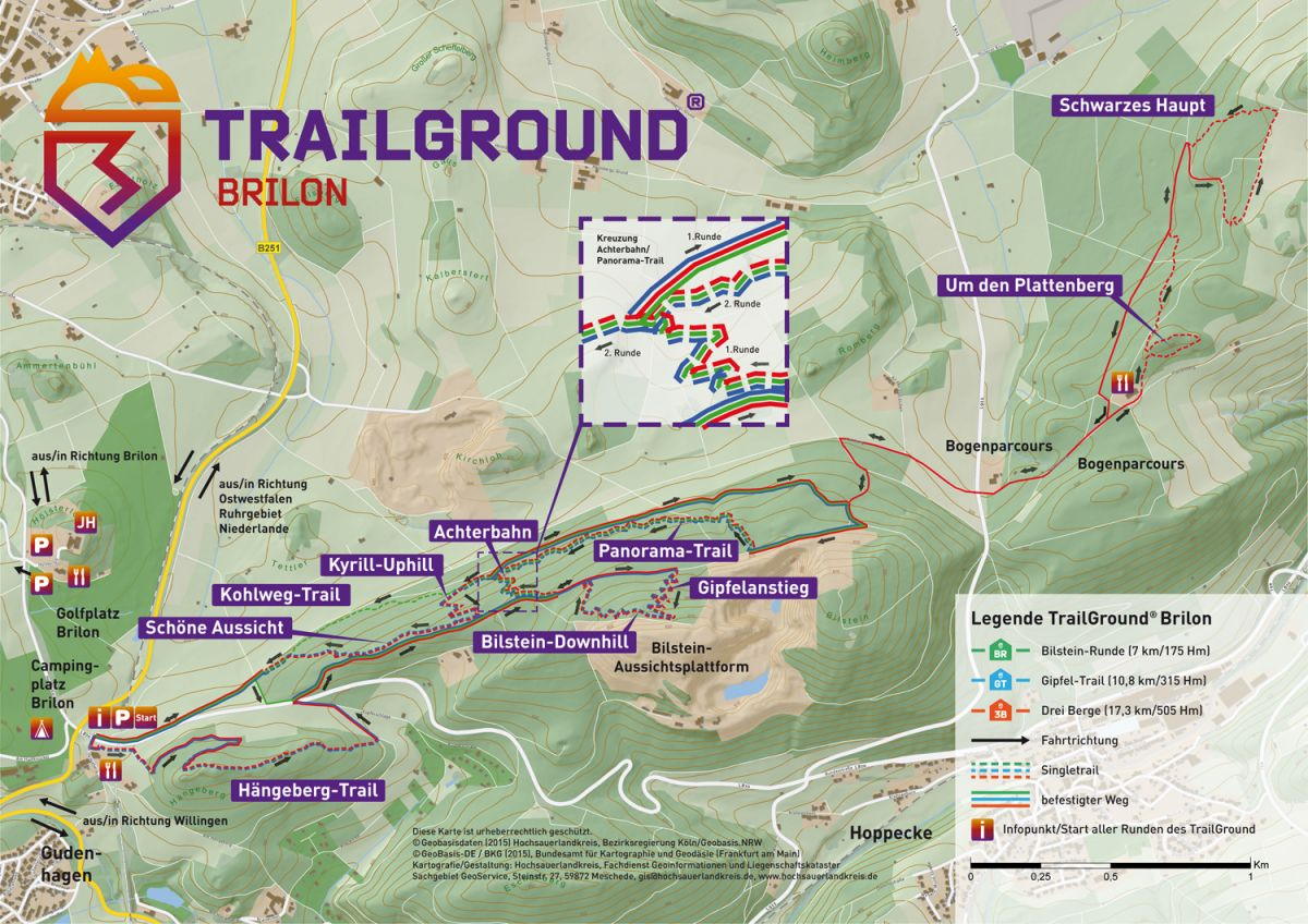 Mountainbike Trailground Brilon Karte