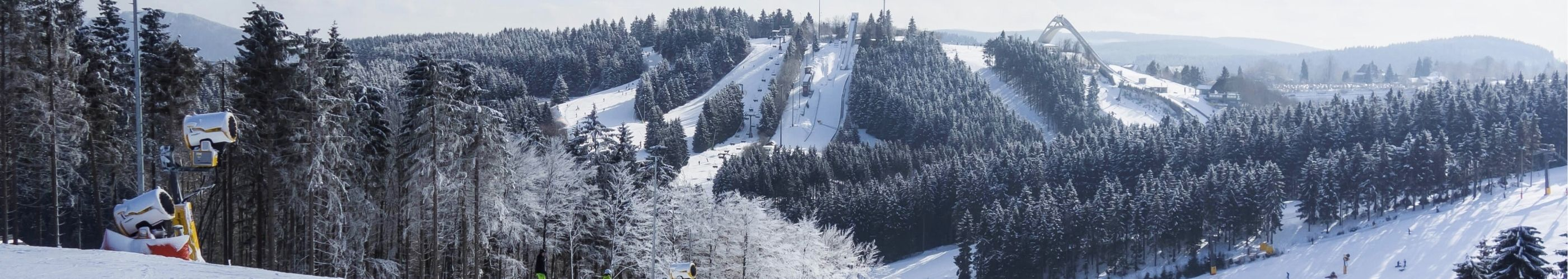 Winter-Panorama Skigebiet Willingen im Sauerland