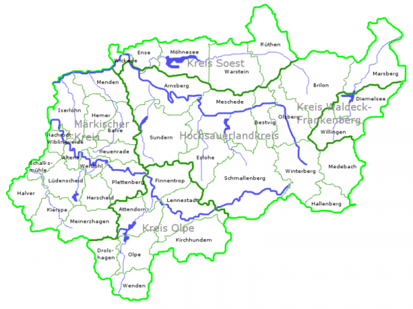 Sauerland Karte.Unsere Sauerland Edersee Urlaubstipps Wandern Radtour