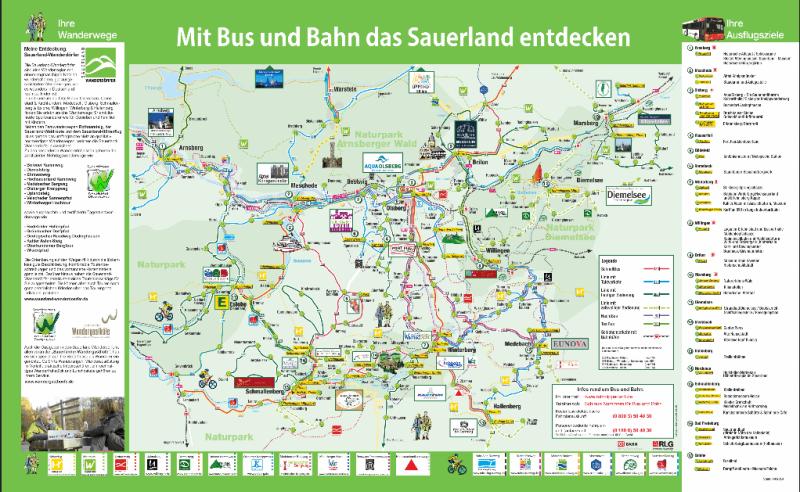 Sauerland Karte.Alle Urlaubsvorteile Der Sauerlandcard Fewo Zentrale Willingen