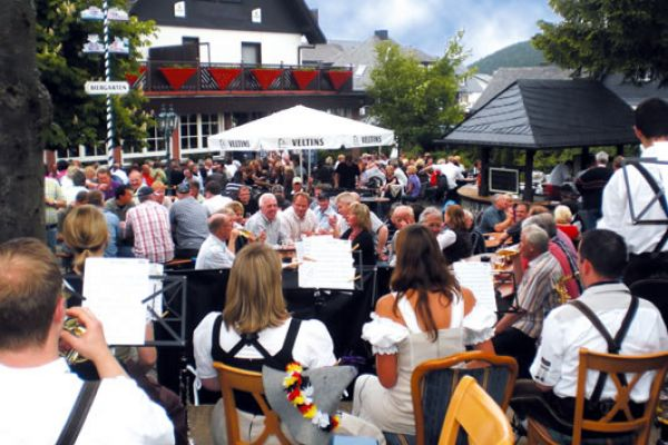 Tenne-Biergarten in Willingen